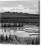 Kettle Pond And The Alaska Range Canvas Print