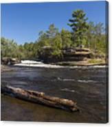 Kettle River Big Spring Falls 6 Canvas Print