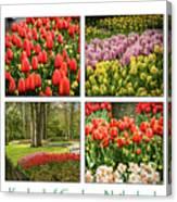 Keukenhof Garden Collage Canvas Print