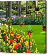 Keukenhof Ornamental Garden. Canvas Print