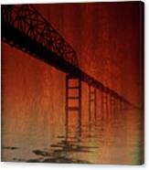 Key Bridge Artistic  In Baltimore Maryland Canvas Print
