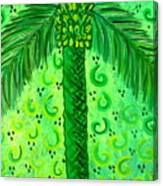 Key Lime Palm Canvas Print