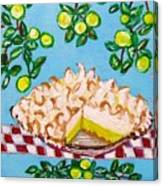 Key Lime Pie Mini Painting Canvas Print