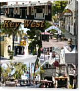Key West Collage Canvas Print