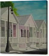 Key West Cottages Canvas Print