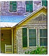 Key West Florida Clapboard Home Canvas Print