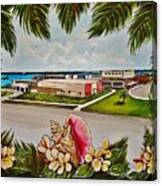 Key West High School From The 60's Era Canvas Print