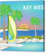 Key West Horizontal Scene Canvas Print