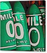 Key West Mile Zero Canvas Print