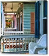 Key West Porches Canvas Print