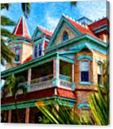 Key West Southern Most Hotel Canvas Print