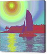 Key West Sun Canvas Print