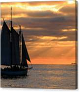 Key West Sunset Sail 6 Canvas Print