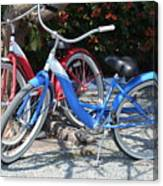 Key West Vintage Bicycles Canvas Print