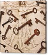 Keys On Artwoork Canvas Print