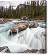 Kicking Horse River Cascades Canvas Print