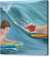 Kids Bodyboarding Canvas Print