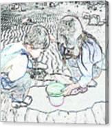 Kids On The Beach Canvas Print