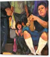 Kids On The Street Canvas Print