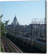 Moscow Kievskaya Train Yard Canvas Print