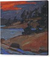 Killbear Flagged Pines At Sunset Canvas Print
