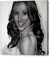 Kim Kardashian Drawing Canvas Print