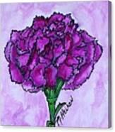 Kimmy's Carnation Canvas Print