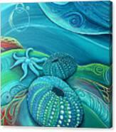 Kina Sea Anemone With  Stingray By Reina Cottier Canvas Print