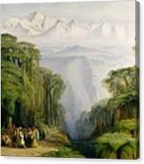 Kinchinjunga From Darjeeling Canvas Print