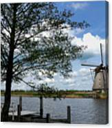 Kinderdijk Windmill Canvas Print