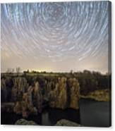 King And Queen Star Trails Canvas Print