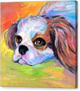 King Charles Cavalier Spaniel Dog Painting Canvas Print
