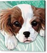 Spaniel Puppy Resting Canvas Print