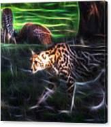 King Cheetah And 3 Cubs Canvas Print