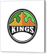 King Crown Kings Circle Retro Canvas Print