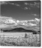 King Homestead_bw-1593 Canvas Print