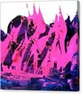 King Kong Attacks Phantom Pink Sail Boat Canvas Print