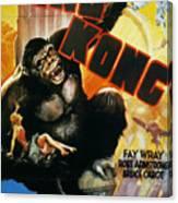 King Kong Poster, 1933 Canvas Print