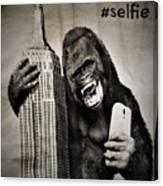 King Kong Selfie Canvas Print