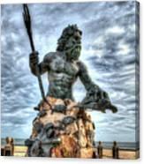 King Neptune Virginia Beach  Canvas Print