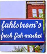 King Of Fish Fish Market  Canvas Print