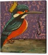 King Of Kingfishers Canvas Print