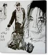 King Of Pop Canvas Print