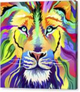 King Of Techinicolor Variant 1 Canvas Print