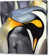 King Penquins Canvas Print