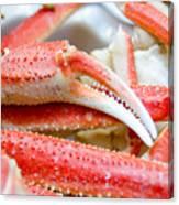 King Snow Crab Legs Ready To Eat Closeup Canvas Print