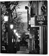 King Street At Night - Old Town Alexandria Canvas Print