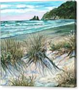 King Tide-whangamata Nz Canvas Print