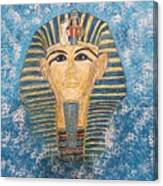 King Tutankhamun Face Mask Canvas Print