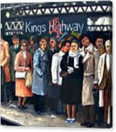 Kings Highway Subway Station Canvas Print